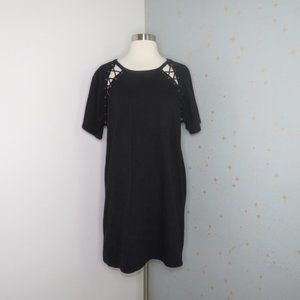 Forever 21 | Black Lace Up T-Shirt Dress